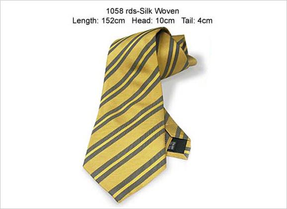 Flavio Giovanni Gold Silk Necktie