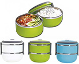 Colour Stainless Steel Lunch Box