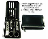 Manicure Set 8pcs - Zipper Pouch