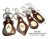 Keychain Leather with metal Y224