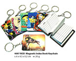 Cartoon Magnetic Index Book Keychain