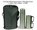 Gift Set Vacuum Flask+2 Mug Zipper Pouch