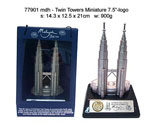 "Twin Towers Miniature 7.5"" - Logo"