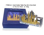 Pewter Tabletop Card Holder - Gold