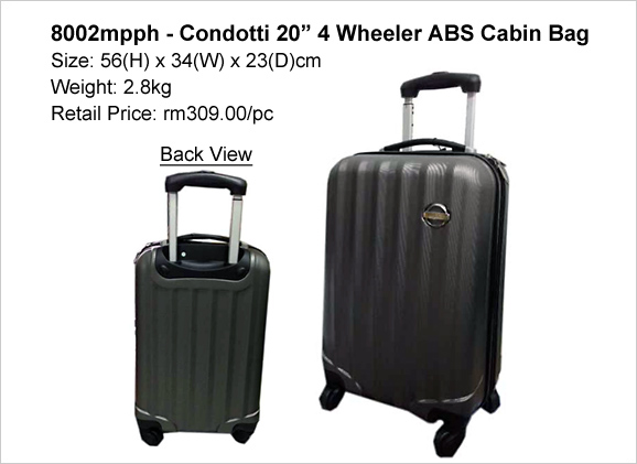 Condotti 20″ 4 Wheeler Cabin Bag