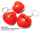 Stress Ball Keychain - Heart Shape