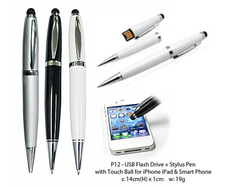 P12 USB Pen with Stylus